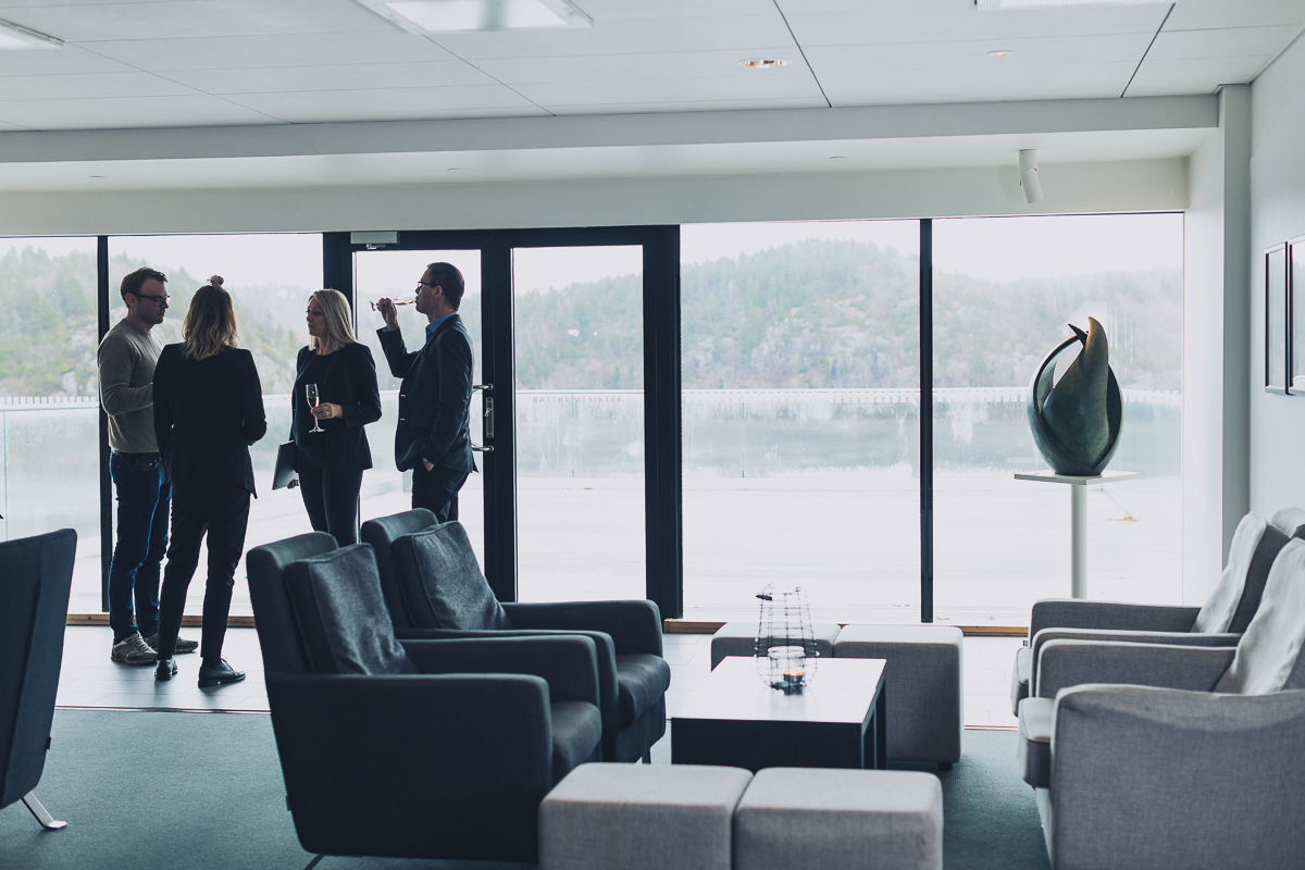 Ett grupp har konferens pa VANN spa hotell och konferens