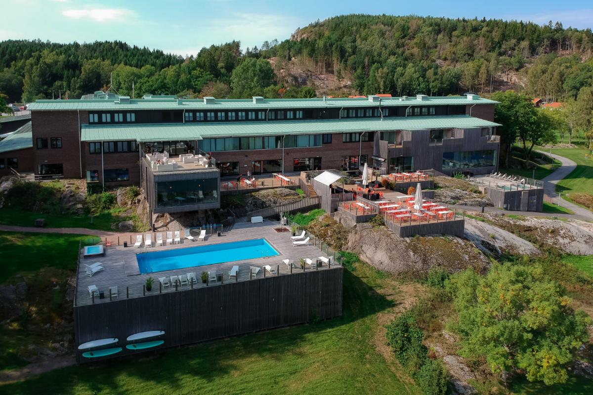 Fasadbild pa Vann Spa Hotell och Konferens - Spahotell i Bohuslan under somamren