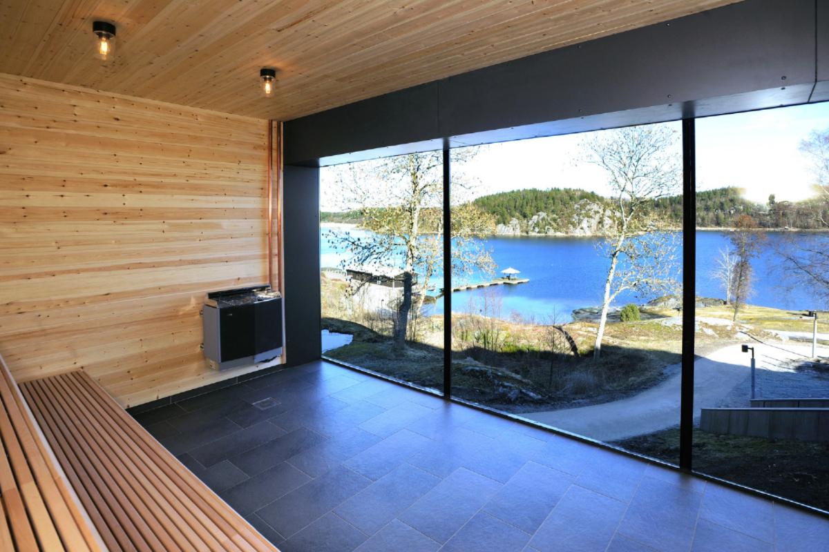 Bastu med utsikt på Vann Spa Hotell och Konferens - Spahotell i Bohuslän