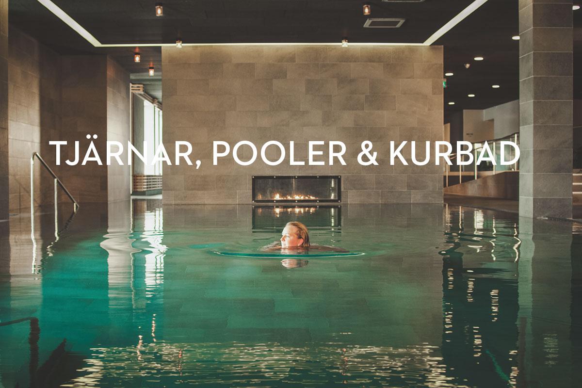 Badar i poolen, spaavdelningen pa VANN Spa Hotell och Konferens
